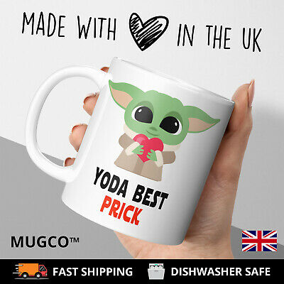 Yoda Prick Best Rude Valentines Adult Mug Funny Birthday Cup Gift Him Present