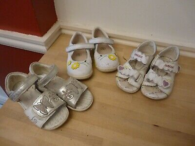 Girls Clarks bundle size 6.5 Clarks first shoes  , sandals & Geox sandals