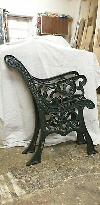 Vintage Victorian Cast Iron Bench Ends Legs Heavy ORNATE Garden Patio Outdoor