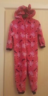 Mothercare Peppa Pig Pyjamas Nightware All In One Jumpsuit Age 2 To 3 Yrs pink
