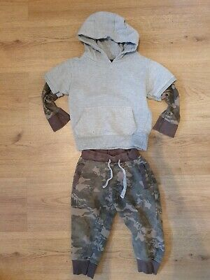 Urban Rascals Peacocks Boys 2 To 3 Years Tracksuit Camouflage Forrest