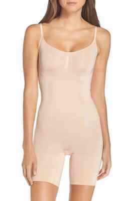New SPANX 'OnCore' Firm Control Midthigh Bodysuit Nude M Medium #SS1715 $98