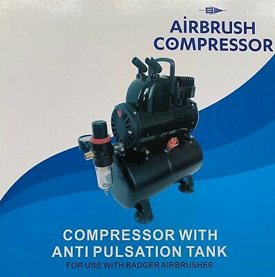Badger BA1100 Airbrush Compressor With Anti Pulsation (For badger airbrush) NIB