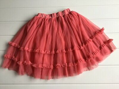 Girls Age 4 Years Tutu Style Skirt Soft Coral From Kite Lined In Organic Cotton