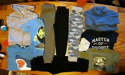 Bundle of boys clothes size 5-6 years. 10 items. Tops Trousers Next H&M Gap F&F