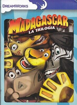 3 dvd Box MADAGASCAR LA TRILOGIA - 3 film collection serie completa nuovo
