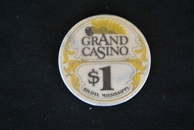 GRAND CASINO Biloxi Mississippi Vintage $1 One Dollar Casino Chip