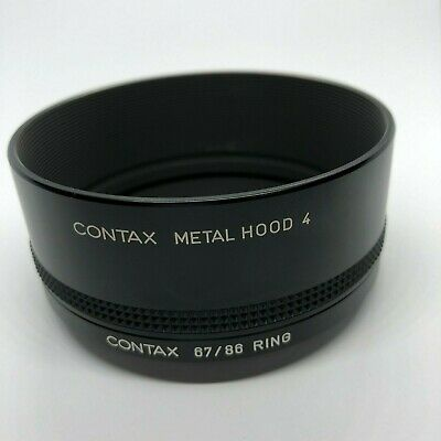 [ NEAR MINT ] Contax Metal Hood 4 + Adapter Ring 67/86 For Carl Zeiss from JAPAN