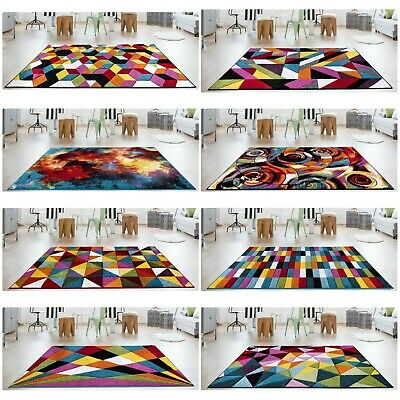 Modern Design Luxury Hand Carved Multi Colour Small Large Carpets Floor Area Rug