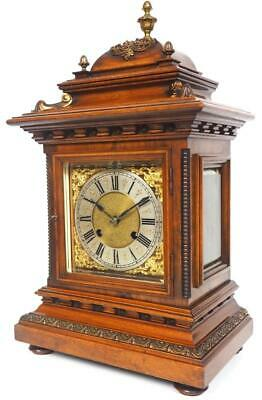 Antique RMS 8Day Bracket Clock Rise Fall Ting Tang Quarter Striking Mantel Clock