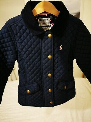 Joules Girls Navy Quilted Jacket Coat - Age 5 Years