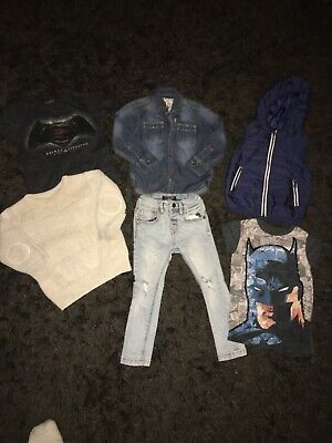 Next Boys Bundle Age 2-3 Years Skinny Jeans Jumper Gilet T-shirts Denim Shirt
