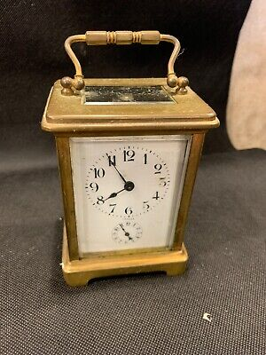antique brass carriage clock H And H France