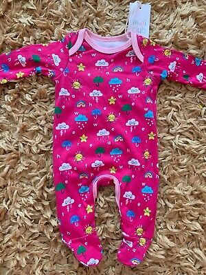Boots Mini Club Small Baby Pink Clouds Weather Sleepsuit 7.5lbs BNWT