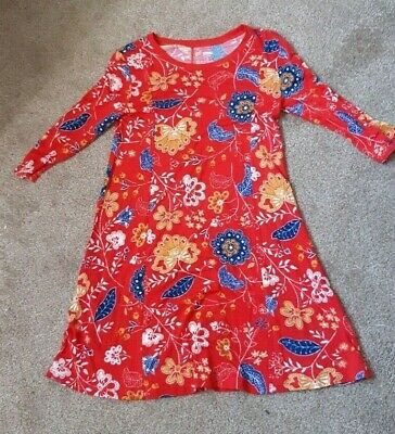 Old Navy Girls Navy Floral Tunic Dress Front Red Flowers Size Medium 8