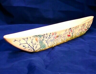 Antique Zsolnay Pecs Hand Painted Long Posy Vase Hand Painted Cherubs Jugendstil