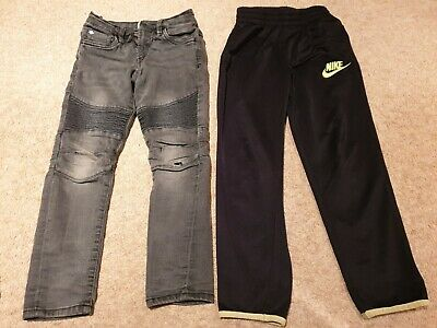 2X Boys Trousers Joggers Bundle Black Size UK Size 6-7 years