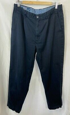 Polo Ralph Lauren Trousers Navy Blue Chinos Chatfield Pant W36 L32