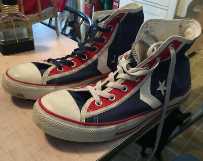 Converse All Star High Top Red/Blue/White Sneakers Size: US 10