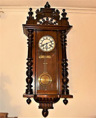 "Beautiful Wall Clock, Gustav Becker "" Silesia P42 "", ca.1905 - 1910"