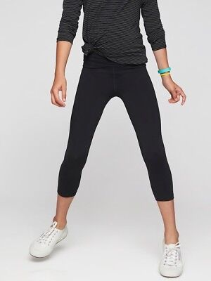 Athleta Girl Chit Chat Capri NWT $39 Size L/12 Black