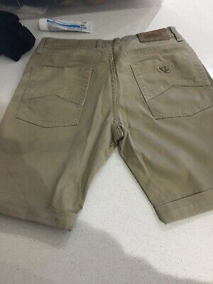 Boys ARMANI JEANS shorts Classic Chino Beige Age 14a cost £85.