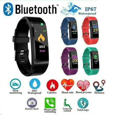 Smart Watch Fitness Tracker Fitbit Sport Calorie Step  Bluetooth Android iPhone