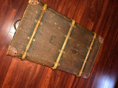 Antique Unique Rare Steam Trunk Suitcase Chests luggage travel collectible