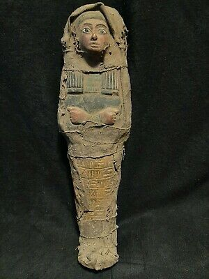 Rare ANCIENT EGYPTIAN ANTIQUE Ushabti wrapped In Linen EGYPT Stone 1656-1364 BC