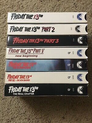 Friday the 13th VHS lot Of 7 Horror Jason Voorhees 1-7 RARE GREAT CONDITION!