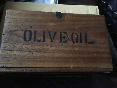 Vintage style wooden box Olive Oil