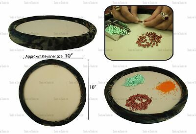 """Unique Round 10"""" Beading Board/ Tray/ Mat Beads Jewellery Crafts Easy Fine Work"""