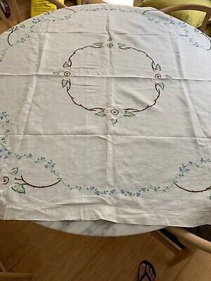 Vintage Square Embroidered Tablecloth