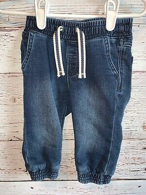 baby Gap Outlet Boys size 6-12 Months Denim Pull-On Joggers