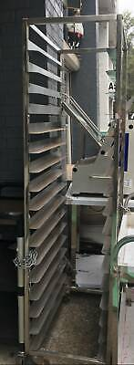Multiple Tier Stainless Steel Clearing Bakery Trolley