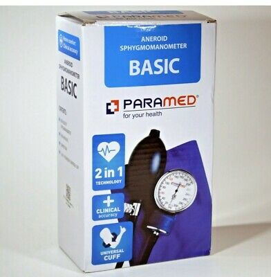 Manual Blood Pressure Cuff by PARAMED – BASIC Aneroid Sphygmomanometer With Case