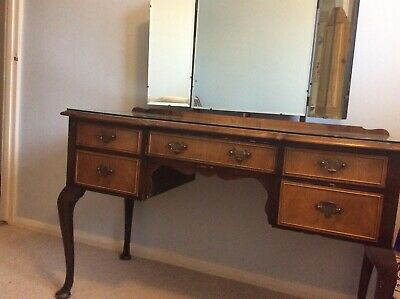 1930s Triple mirror dressing table by Tibbenham  of Ipswich