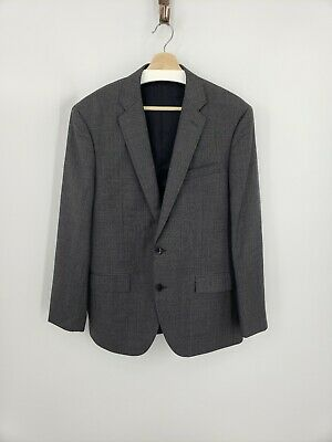 New J.Crew Crosby Suit Jacket Center Vent Gray Italian Worsted Wool Size 40R