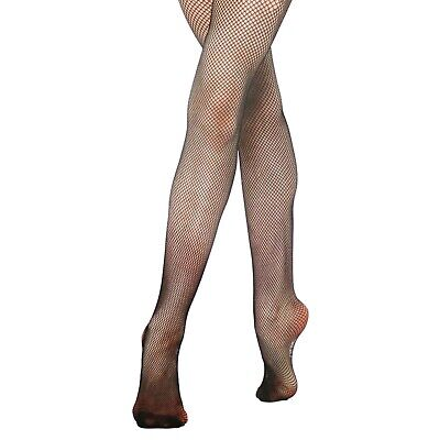 Girls/Ladies Fishnet High Quality Ballet Dance Tights 11-13, S M L XL, BLACK/NAT