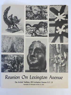Vintage Art Catalogue-Reunion On Lexington Ave-THE ARTISTS' GALLERY-NYC 1956