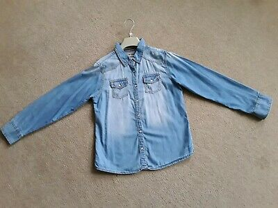 Next Denim shirt - age 10 Girls