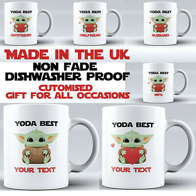 Baby Yoda Personalised Coffee Tea Mug Cup Valentines Any Occasion Gift Funny