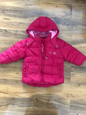 Next Girls Padded Pink Coat Age 12-18 Months
