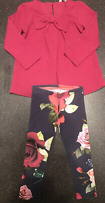 Girls Ted Baker Top And Legging Set Age 4-5years