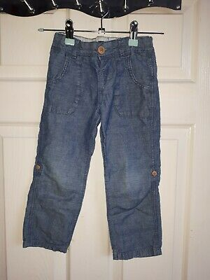 MARKS AND SPENCER: Boys Age 3/4 Cotton Denim Look Trousers
