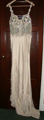 Best Look Evening Wear Jewelled Evening Dress Size 14 - Selling For Charity