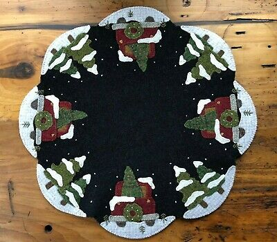 "Wool Applique Kit ""Hauling The Tree All Around"" Buttermilk Basin"