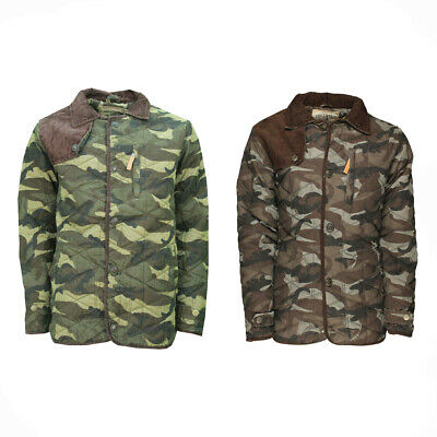 Mens Soul Star Diamond Quilted Hunter Jacket Cord Patches Small To XXL