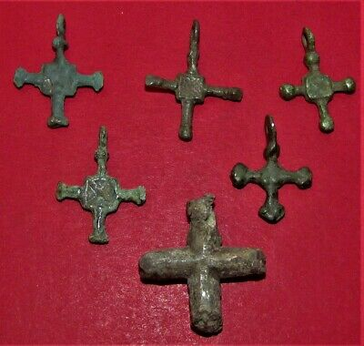 Ancient Bronze Crosess! Set 6 Pieces! Kievan Rus'! X-XII century