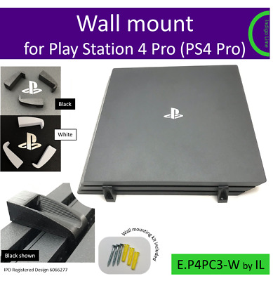 Play Station 4 Pro (PS4 Pro) Wall mount bracket. Made in the UK by us.